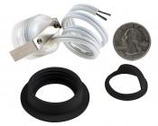 LED Step Lights - Black 40mm Metal Trim with Hood Mini Round Deck / Step Accent Light - 0.5 Watt: Back View