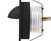 LED Step Lights - Black 40mm Metal Trim with Hood Mini Round Deck / Step Accent Light - 0.5 Watt: Profile View