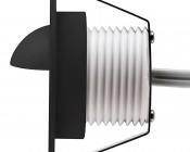 LED Step Lights - Black 40mm Metal Trim with Hood Mini Round Deck / Step Accent Light - 1 Watt: Profile View