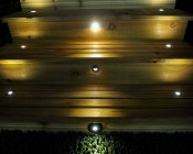 LED Step Lights - Brushed Nickel 40mm Plactic Trimmed Mini Round Deck / Step Accent Light - 1 Watt