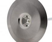 LED Step Lights - Brushed Nickel 70mm Metal Trimmed Mini Round Deck / Step Accent Light - 1 Watt