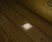 LED Step Lights - White 40mm Plactic Square Trimmed Mini Round Deck / Step Accent Light - 0.5 Watt: Installed On Deck And Shown On.