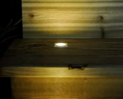 LED Step Lights - White 40mm Plactic Square Trimmed Mini Round Deck / Step Accent Light - 0.5 Watt