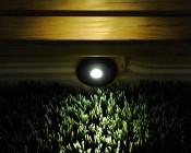 LED Step Lights - Black 70mm Metal Trimmed Mini Round Deck / Step Accent Light - 1 Watt