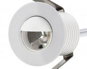 LED Step Lights - White 40mm Metal Trim with Hood Mini Round Deck / Step Accent Light - 1 Watt