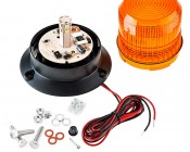 "4-3/4"" Amber LED Strobe Light Beacon with 10 LEDs: All Included Parts"