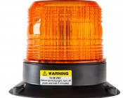 "4-3/4"" Amber LED Strobe Light Beacon with 18 LEDs: Profile View"