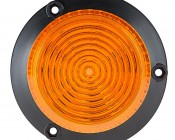 "4-3/4"" Amber LED Strobe Light Beacon with 18 LEDs: Top View"