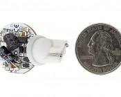 921 LED Bulb - 2 Watt (15 Watt Equivalent) Miniature Wedge Base LED Disc - White: Back View