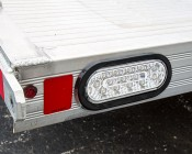 """Oval LED Truck Lights and Trailer Lights with Clear Lens - 6"""" LED Brake/Turn/Tail Lights w/ 17 High Flux LEDs - 3-Pin Connector: Installed on Trailer"""