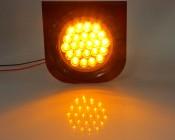 Round Truck Lamp w/ Bracket- Front