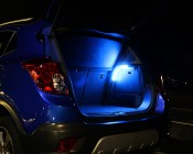LED Tube Lights - Super Flexible Neon LED Rope Lights: Shown Installed In Car Trunk.