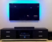 TV backlighting with RGB Color Changing Light Strip Kit