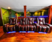 Full Reel LED Flexible Light Strip - 31m (101ft): Installed Under Sectional Couch
