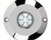 RGB LED Underwater Boat Lights and Dock Lights - Single Lens - 60W: Front View