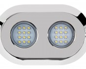 LED Underwater Boat Lights and Dock Lights- Double Lens - 120W: Front View
