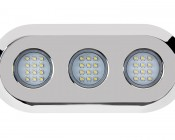 LED Underwater Boat Lights and Dock Lights - Triple Lens - 180W: Front View