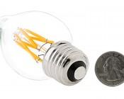 LED Vintage Light Bulb - Decorative F15 LED Bulb w/ Filament LED - Dimmable Blunt Tip Candle Bulb: Back View