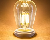 Vintage LED Light Bulb - S14 LED Sign Bulb with Filament LED - Dimmable: Turned On