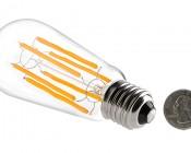 LED Vintage Light Bulb - ST18 LED Bulb w/ Filament LED - Dimmable: Back View