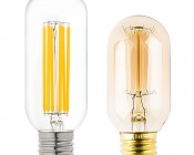 T14 LED Filament Bulb - 35 Watt Equivalent Vintage Light Bulb - Radio Style - 12 VDC: Profile Comparison View