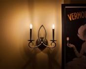 Candelabra LED Decorative Filament Bulb, Bent Tip Shape: Installed In Light Fixture On Wall