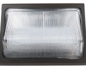 Photocontrol LED Wall Pack - 50W (250W Equivalent) - 5000K/4000K - Up to 6,000 Lumen: Front View