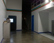 LED Retrofit Kit for 250W HID Fixtures: Shown Installed In Warehouse Interior Wall Pack.