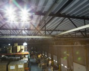 Modular LED High Bay Light - 120W: Installed In Warehouse