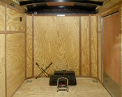 921 LED Bulb retrofitted in dome light fixture inside trailer