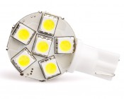 194 LED Bulb - 6 SMD LED Disc - Miniature Wedge Retrofit