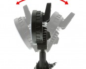 "LED Work Light - 6"" Round - 12W Adjustable Spot Light w/ Handle: Profile View"