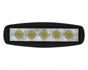 """LED Work Light - 6"""" Rectangle - 15W: Front View"""