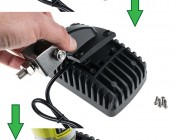 """LED Work Light - 6"""" - Rectangular - 24W: How To Change The Lights Mounting Orientation."""