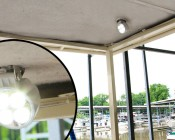 """3.25"""" Round 12W Heavy Duty High Powered LED Work Light mounted on boat"""