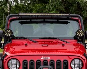 "6"" Round 51W Heavy Duty High Powered LED Work Light: Installed by Pur Performance onto a Jeep"