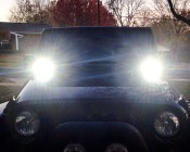 """LED Auxiliary Light - 4"""" Dual 20W Heavy Duty Off Road Driving Light"""