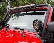"40"" Off Road LED Light Bar with Spot/Flood Combo Beam - 120W: Installed by Pur Performance onto a Jeep"