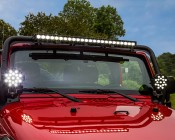 "40"" Off Road LED Light Bar with Spot/Flood Combo Beam - 120W: Installed by Pur Performance onto Jeep"