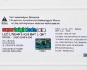 100W LED Linear High Bay Light - 3-Lamp T5HO/5-Lamp T8 Equivalent - 13,600 Lumens - 5000K - Label