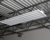 250W LED Linear High Bay Light - 7-Lamp T5HO/11-Lamp T8 Equivalent - 33,500 Lumens - 5000K - Close Up View of Install