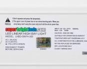 300W LED Linear High Bay Light - 8-Lamp T5HO/14-Lamp T8 Equivalent - 41,400 Lumens - 5000K - Label