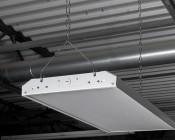 80W LED Linear High Bay Light - 5-Lamp F24T5HO/7-Lamp F17T8 Equivalent - 10,400 Lumens - 5000K - 2x1 - Hanging Kit Included