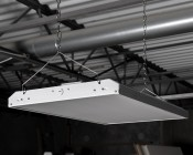 220W LED Linear High Bay Light - 15-Lamp F24T5HO/21-Lamp F17T8 Equivalent - 29,000 Lumens - 5000K - 2x2 - Included Hanging Kit
