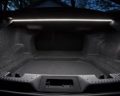 LED Linear Light Bar Fixture: Shown Installed In Car Trunk In Cool White.