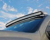 """50"""" Off Road LED Light Bar Upper Windshield Mount for GM Trucks - Curved"""