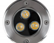 Linkable LED In-Ground Well Light - 3 Watt: Front View