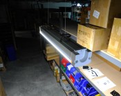 30W Linear LED Light Fixture - Industrial LED Light - 2' Long: Shown Installed In Warehouse Aisle.