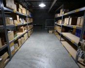 LED Corn Light - 320W Equivalent HID Conversion - E39/E40 Mogul Base: Shown Installed In Warehouse Aisle From 10' In Fixture.