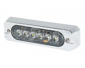 Low Profile LED Mini Strobe Light Bezels: Shown Attached To Truck Light